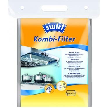 swirl Kombi dual Φίλτρο απορροφητήρα ενεργού άνθρακα