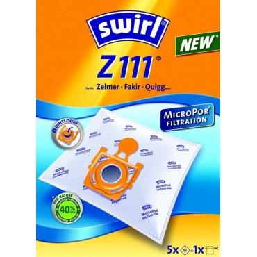 Swirl Z111-5, PITSOS,ZELMER Σακούλα Σκούπας με Αντιαλλεργικό Φίλτρο MicroPor