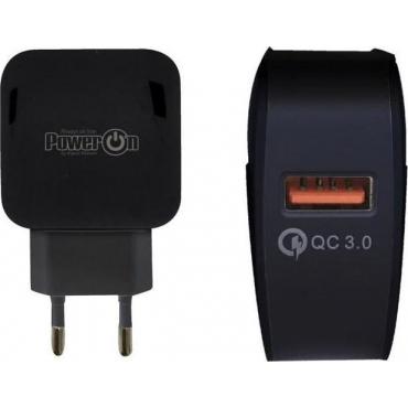 Power On USB Wall Adapter Μαύρο (CH-80K)