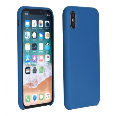 Powertech Silicon Velvet Μπλε (iPhone X / Xs)
