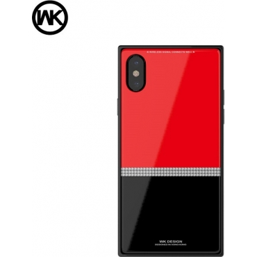 WK Cara Back Cover Μαύρο/Κόκκινο (iPhone X / Xs)