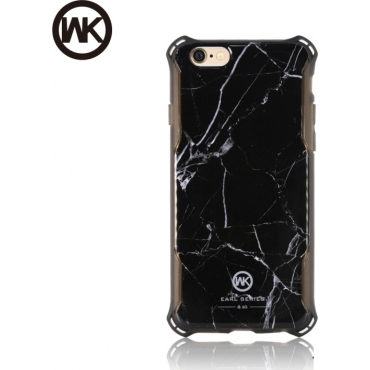 WK Marble Back Cover Μαύρο (iPhone 6/6s)