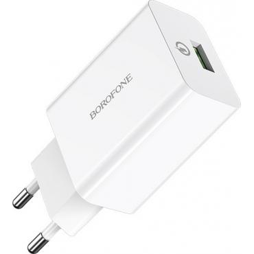 Borofone USB Wall Adapter Λευκό (BA21A)