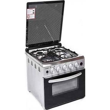 Κουζινάκι με 4 εστίες & φούρνο υγραερίου επιτραπέζιο inox 50x54x45cm FERRE F6N40G2-XW