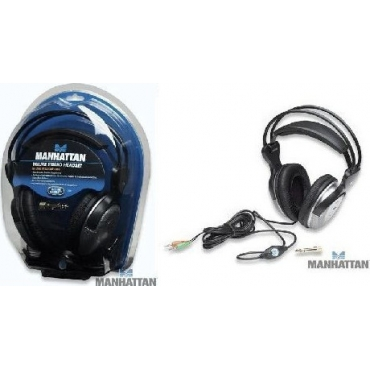Manhattan MN-7931 Deluxe Stereo Headset In-Line Volume Control