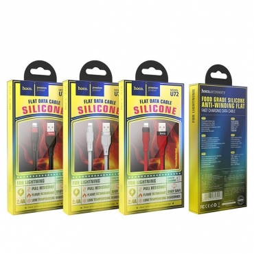 Hoco Regular USB to Lightning Cable Κόκκινο 1.2m U72