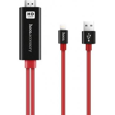 Hoco Cable HDMI male - Lightning / USB-A male 2m (UA4)