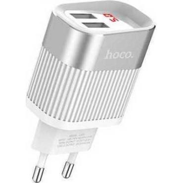 Hoco 2x USB Wall Adapter Λευκό (C40A Speedmaster)
