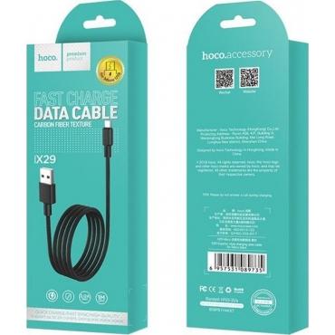 Hoco Regular USB 2.0 to micro USB Cable Μαύρο 1m (X29 Superior)