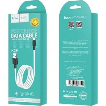 Hoco Regular USB 2.0 to micro USB Cable Λευκό 1m (X29 Superior)