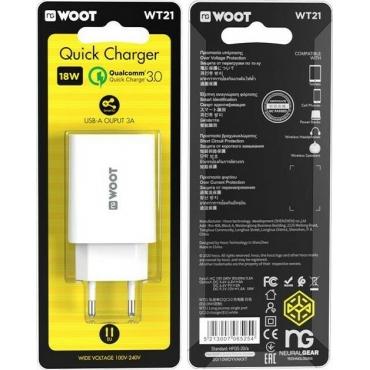 NG USB-A Wall Adapter Λευκό (WT21)