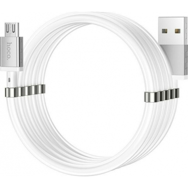 Hoco U91 Magnetic USB 2.0 to micro USB Cable Λευκό 1m (HC-U91M)