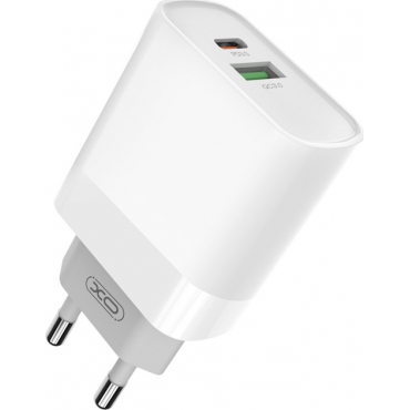 XO USB-A & USB-C Wall Charger Λευκό (L64)