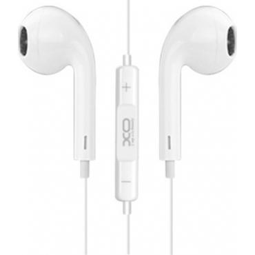 XO S8 Earbuds Handsfree με Βύσμα 3.5mm Λευκό