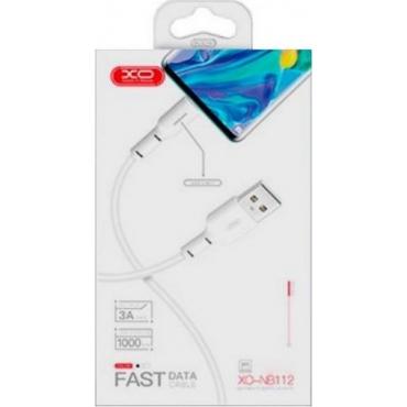 XO NB112 USB to Lightning Cable Λευκό 1m (NB112LWH)