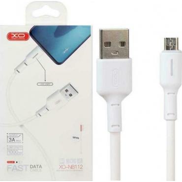 XO NB112 Regular USB 2.0 to micro USB Cable Λευκό 1m (XO-NB112MWH)