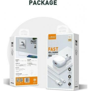 Ldnio micro USB Cable & Wall Adapter Λευκό (A1306Q)