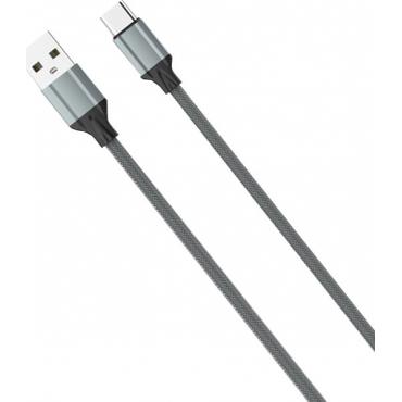 Ldnio Braided USB to Lightning Cable Γκρι 2m (LS442)