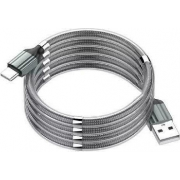 Ldnio Magnetic USB 2.0 to micro USB Cable Γκρι 1m (LS491)