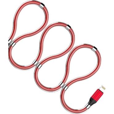 Ldnio Regular USB to Lightning Cable Κόκκινο 1m (LD-LS491LR)