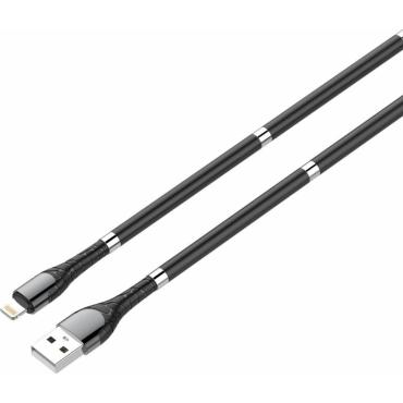 Ldnio Regular USB to Lightning Cable Μαύρο 1m (LD-LS511LBK)