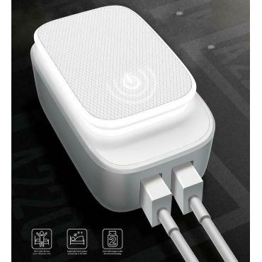 Ldnio USB-C Cable & x2 USB Wall Adapter Λευκό (LD-A2205QT)
