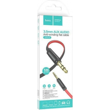 Hoco Cable 3.5mm male - 3.5mm male Κόκκινο 1m (UPA16)