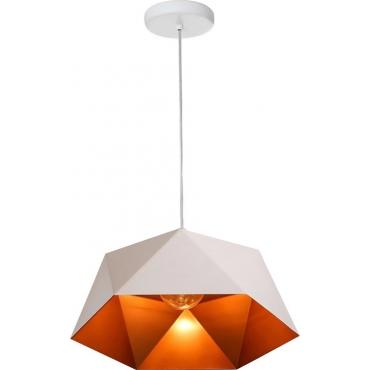 POWERTECH φωτιστικό οροφής HLL-0040, E27, 25x15cm, μεταλλικό, λευκό