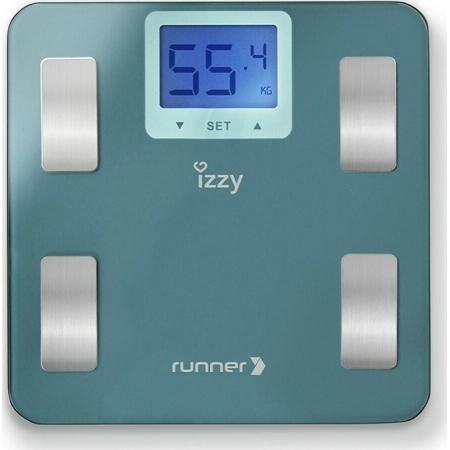 Izzy IZ-7003 Runner Ψηφιακή Ζυγαριά με Λιπομετρητή σε Γαλάζιο χρώμα
