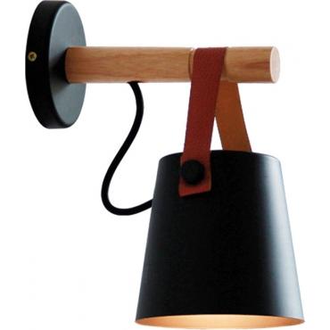 Powertech Φωτιστικό Τοίχου Μαύρο HLL-0039