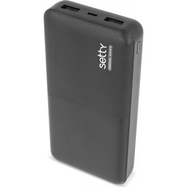 Setty Travel Battery 20000mAh Μαύρο